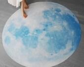 Full Moon picnic-mat, BLUE MOON WALTZ (interior rug, picnic-mat -135cm / 53inch)