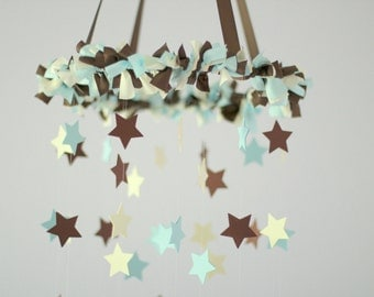Star Baby Mobile- Boy Nursery Decor, Blue Nursery Mobile, Shower Gift, Photographer Prop