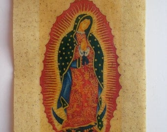 virgin of guadalupe waxed fabric image
