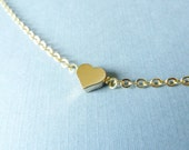 Tiny Gold Heart Anklet - Gold Heart Anklet, Small Heart, Love Anklet