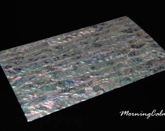 White Paua Veneer Sheet (Mother of Pearl MOP Shell Overlay Inlay Luthier Nacre)