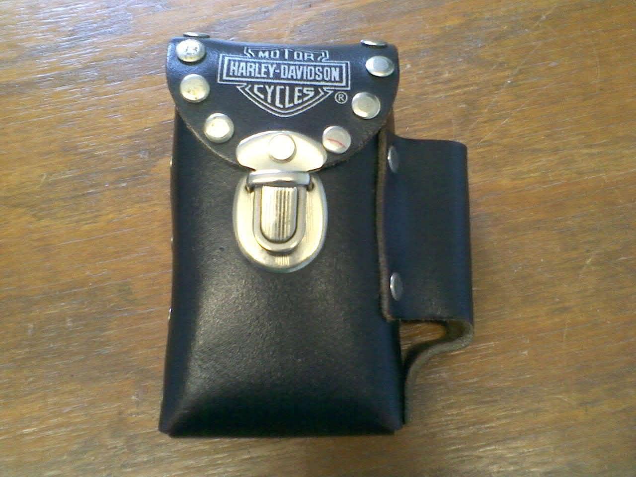 Vintage Harley Davidson Black Leather Cigarette And By