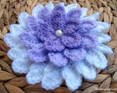 CROCHET FLOWER PATTERN, Big Flower Pattern, Lilac Shadow, Crochet Diy Flowers, Instant Digital Download Lyubava Crochet Pdf Pattern No.37