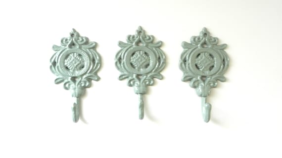 Decorative Wall Hooks Set of Three Bath Towel by juxtapositionsc