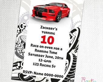 Race Car Invitation