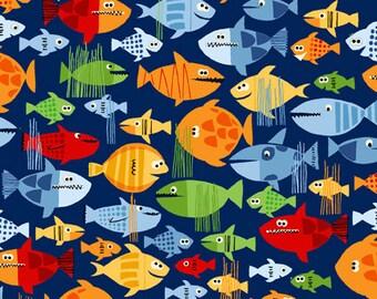 Pirates fish sea / Makower Pirates / Patchwork quilting / fat quarter
