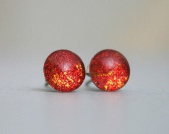 Caprica - Battlestar Galactica Inspired - Color Changing - Stainless Steel Stud Earrings