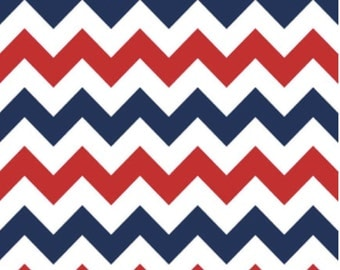 Medium Chevron Patriotic by Riley Blake Designs 1 Yard Cut