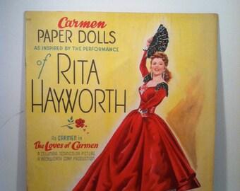 Vintage Rita Hayworth Paper Dolls - 1948 - Rita Hayworth as Carmen.