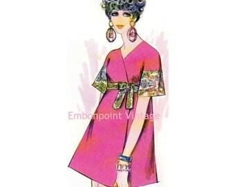 Plus Size (or any size) Vintage 1969 Wrap Dress Pattern - PDF - Pattern No 120 Marcella