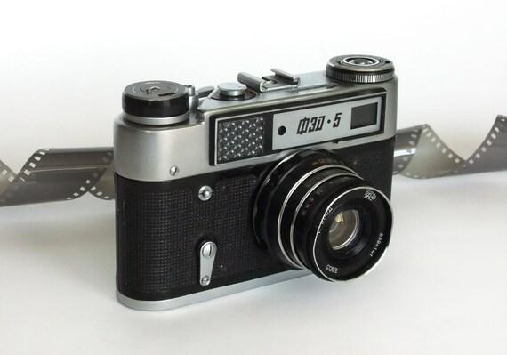 Vintage Camera FED - 5, Leica copy, Rangefinder, film 35mm, Soviet Russia Camera