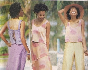 Butterick Sewing Pattern 6647 - Misses' Top, Skirt, and Pants (6-10, 12-16, or 18-22)