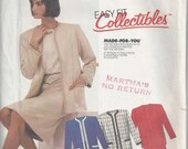 McCalls 2410 EASY Fit Sewing Pattern Suit or Jacket and Skirt Misses Size 14