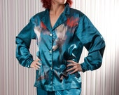 Silk pajama, for women, made to order, you choose color combination, perfect gift for her, satin silk pyjamas, very soft comfy sleep wear