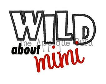 Wild About Mimi Applique -- Machine Embroidery Design