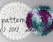 Facial Scrubbie PATTERN, 2 sizes, Crochet, Thick and Soft Edge, INSTANT DOWNLOAD
