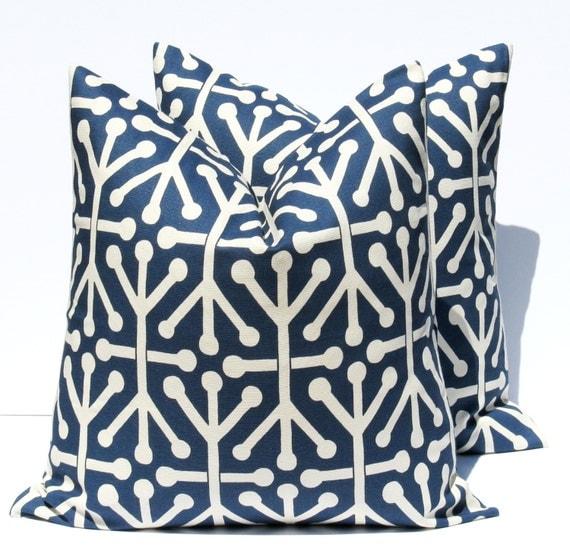 Dark Blue Decorative Pillows : Decorative Throw Pillows Navy Blue Pillow Dark blue by EastAndNest