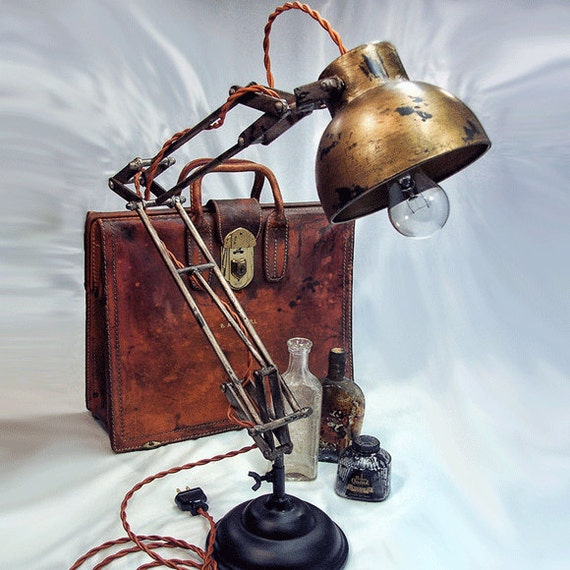 Architects Lamp Steampunk Industrial lamp Desk Lamp – Architects Desk Lamp