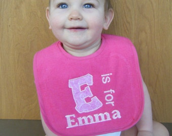 Personalized Baby Bib Monogrammed Bib Baby Shower Gift, 1st Birthday Gift Toddler Gift Christmas Gifts
