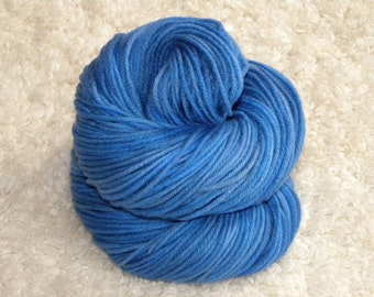 Hand Dyed yarn, Worsted Weight, 100% Superwash Merino Wool, 100g/230 yards- 'Cookie Monster'
