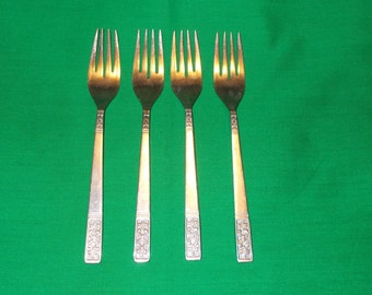 """Four (4), 7 1/8"""" Stainless Forks, from Customcraft, in the CUS 3 Pattern."""
