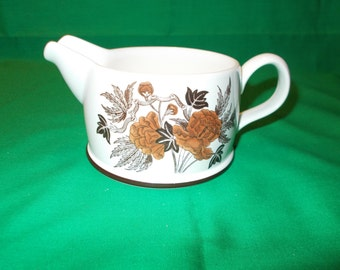 One (1), Gravy Boat, from Wedgwood, in the Peony (Oven to Table) Pattern.