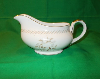One (1),  Porcelain, Gravy Boat, from Kyoto China, in the Belaire 8063 Pattern.
