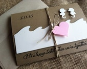 Better Together Collection DEPOSIT - Rustic Beach Destination Wedding Invitation - Eco Friendly