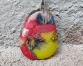 Funky Fused Glass Pendant