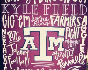 Items Similar To Texas A Amp M Rustic Squads Left Yell Sign