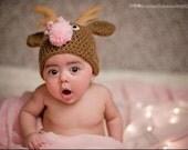 ALL SIZES Reindeer Beanie