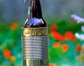 Hobo Tin Can Beer Holder/ Personalized Garden Drink Holder/ Outdoor Beverage Holder