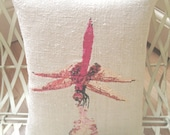 Custom Order for Debby, Davina the Dragonfly and Betty the Budgie Designer Artistic Cushion