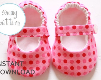 Baby Shoe Pattern - Classic Mary Janes - Sizes 1 to 5