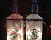 Phillies/ Yankees square lamp