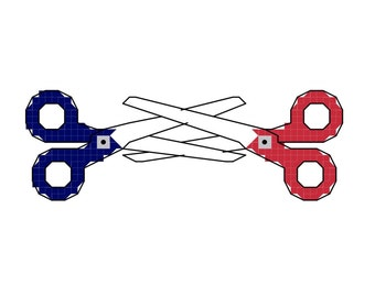 Cross Stitch Pattern -- Scissors...crafty scissors doing scissory type things that scissors do