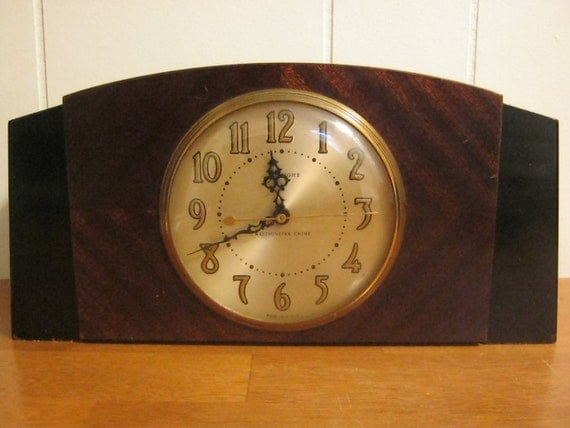 Art Deco Sessions Mantle Clock Westminster Chime Model 2c