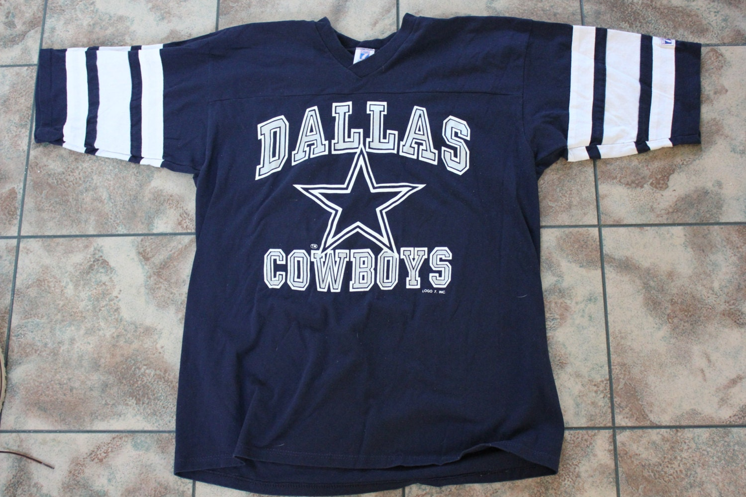 Vintage Dallas Cowboys T Shirt Jersey Logo 7 Nfl By