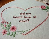 Romeo & Juliet Act I, Scene V - Romantic Quote - Embroidery Pattern PDF - Includes Stitch Guide
