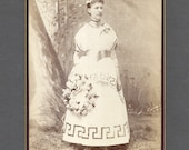 Cabinet Card of a Woman Wearing an Unusual Costume