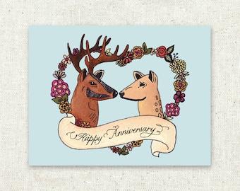 Greeting Card, Deer Anniversary