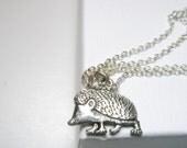 Sale Tiny Hedgehog  Necklace -hedgehog keychain-  Hedgehog Keyring -  Hedgehog jewelry  with  Free  gift