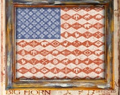 USA southwest american flag print only