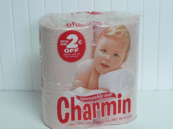 Nos Vintage Pink Toilet Tissue Paper Charmin Squeezably Soft