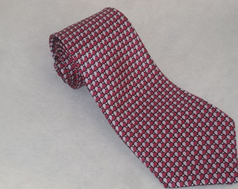 SILK NECKTIE Discreet Hearts I Love You Anniversary Neck Tie