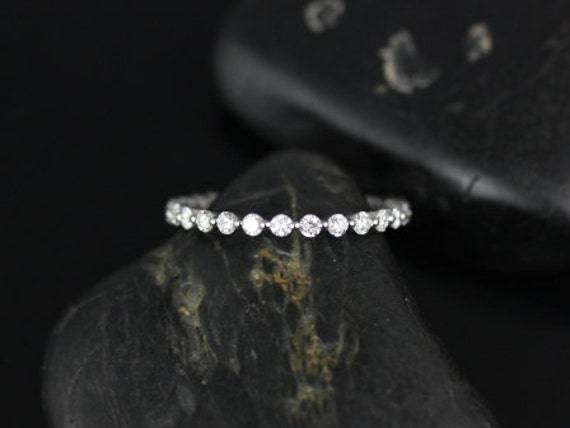 Petite Bubble & Breathe 14kt White Gold Diamond Almost Eternity Band (Other Metals and Stone Options Available)
