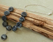"Larvikite 18 1/2"" Handcrafted Artisan Necklace"