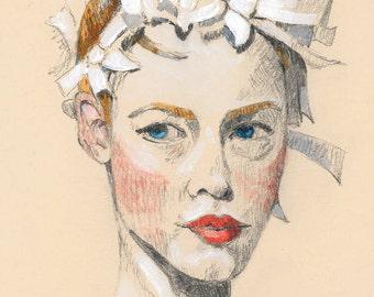 Chanel 09, Fashion Illustration, Fine Art Print
