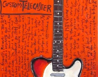Sheryl Crow 1959 Fender Telecaster electric guitar art print