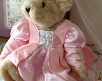 Vermont Retro Pink Princess Teddy Bear